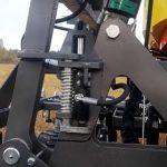Sivulohkojen mekaaninen automaattilukitus.